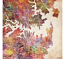 Sydney map Photographic Print