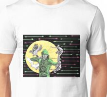 Green Arrow, Black and White Canaries  Unisex T-Shirt