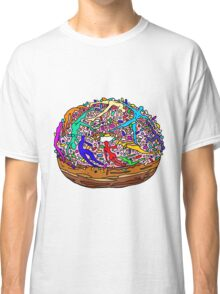 Kamasutra Space Donuts with Human Colorful Rainbow Confetti Sprinkles Classic T-Shirt