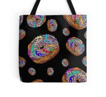 Kamasutra Space Donuts with Human Colorful Rainbow Confetti Sprinkles Tote Bag