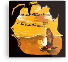 Jack Sparrow Sunset Metal Print