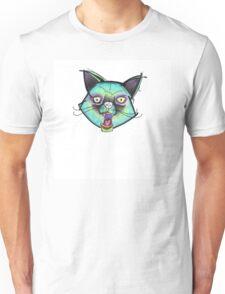 Psycho Cat / Kaki Needledwarf Art   Unisex T-Shirt