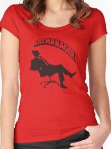 Batmanager Women's Fitted Scoop T-Shirt