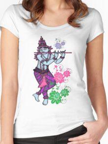 Krishna Rising Women's Fitted Scoop T-Shirt