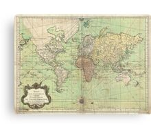 Vintage Map of The World (1778) Canvas Print