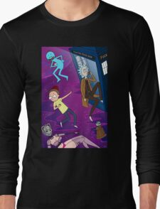 Rick and Morty - Doctor Who Mash Up!  Long Sleeve T-Shirt