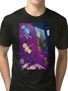 Rick and Morty - Doctor Who Mash Up!  Tri-blend T-Shirt