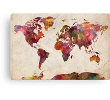 World map watercolor Canvas Print