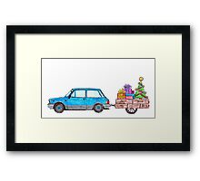 Christmas Car Framed Print