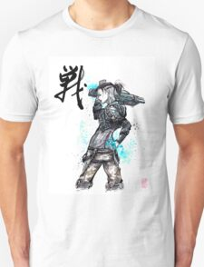 Jack from Mass Effect Sumie Style with calligraphy FIGHT Unisex T-Shirt