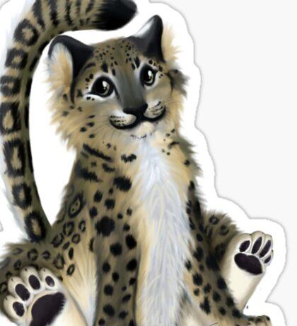 Snow Leopard - Flufferly Sticker