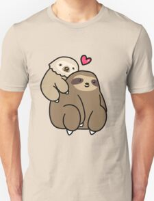 Two Toed Sloth and Three Toed Sloth Unisex T-Shirt