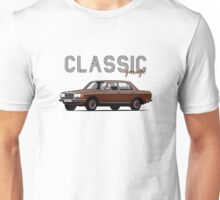 Mercedes-Benz E-klass (W123) (dark red) Unisex T-Shirt