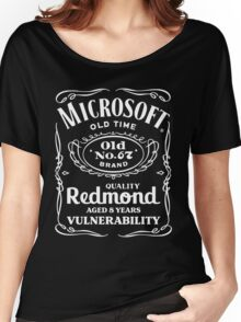 MS08-067 (white text) Women's Relaxed Fit T-Shirt