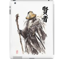 Gandalf Samurai with Sumi ink and watercolor Japanese Calligraphy Magus iPad Case/Skin