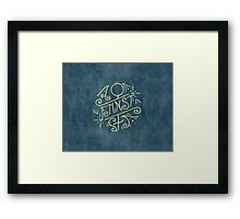 Feminist - Watercolour Illustration of Ornate Lettering With Flourishes Framed Print