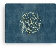Feminist - Watercolour Illustration of Ornate Lettering With Flourishes Canvas Print