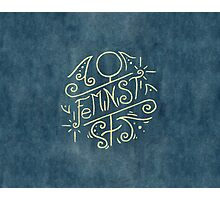 Feminist - Watercolour Illustration of Ornate Lettering With Flourishes Photographic Print