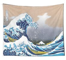 Great Wave of Kanagawa Wall Tapestry Wall Tapestry