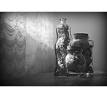 SHELLS IN BOTTLES Photographic Print