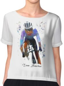 Test Tee by Sachse Cyclist Chiffon Top