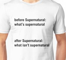 Before and after Supernatural Unisex T-Shirt