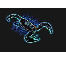 Scorpion - Blazing Neon Photographic Print