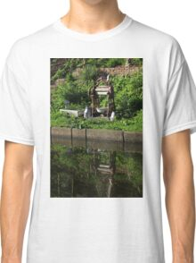 Old wooden mangle on canal bank Classic T-Shirt