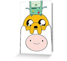 Adventure Time Totem - Finn, Jake and BMO Greeting Card