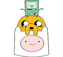 Adventure Time Totem - Finn, Jake and BMO Photographic Print