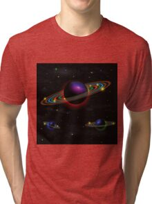 Night space background Tri-blend T-Shirt