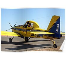 Air Tractor aircraft (yellow & blue) Poster