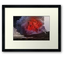 In Search of Madame Pele Framed Print