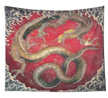 Embossed Hokusai Dragon Sticker Seal Very High Quality Wall Tapestry