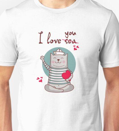 i love sea Unisex T-Shirt