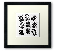 Old School Monster Gear Framed Print