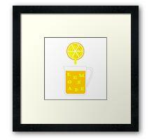 When life gives you lemons make..... Lemonade Framed Print