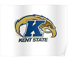 Kent State University Golden Flash Logo Glitter Poster