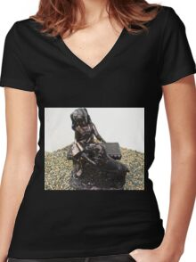 Another sculpture at the Killyhevlin Hotel Women's Fitted V-Neck T-Shirt