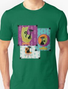 60's RETRO MID-CENTURY MODERN CATS Unisex T-Shirt