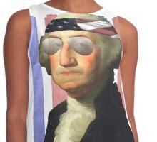 George Washington President of Murica Contrast Tank