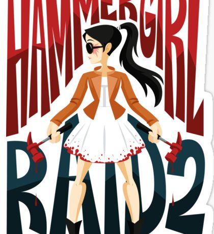 Hammer Girl Sticker
