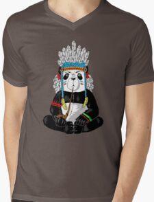 Panda-Indian Mens V-Neck T-Shirt