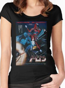 Japanese Tron Poster Women's Fitted Scoop T-Shirt
