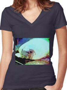 I the Walrus Women's Fitted V-Neck T-Shirt