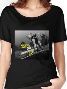 Black-Star full Background Women's Relaxed Fit T-Shirt