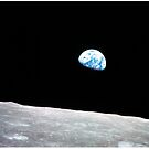 Earthrise Beautiful Astronomy Image by Greenbaby
