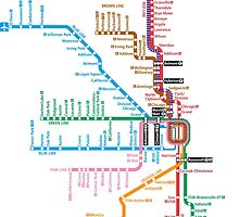 Chicago Trains Map by Rich Anderson