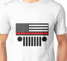 Jeep Firefighter Red Line Flag Unisex T-Shirt