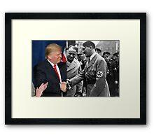 Donald Trump shaking hands with Hitler Framed Print